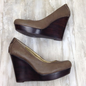 Seychelles Leather Wedges 8.5